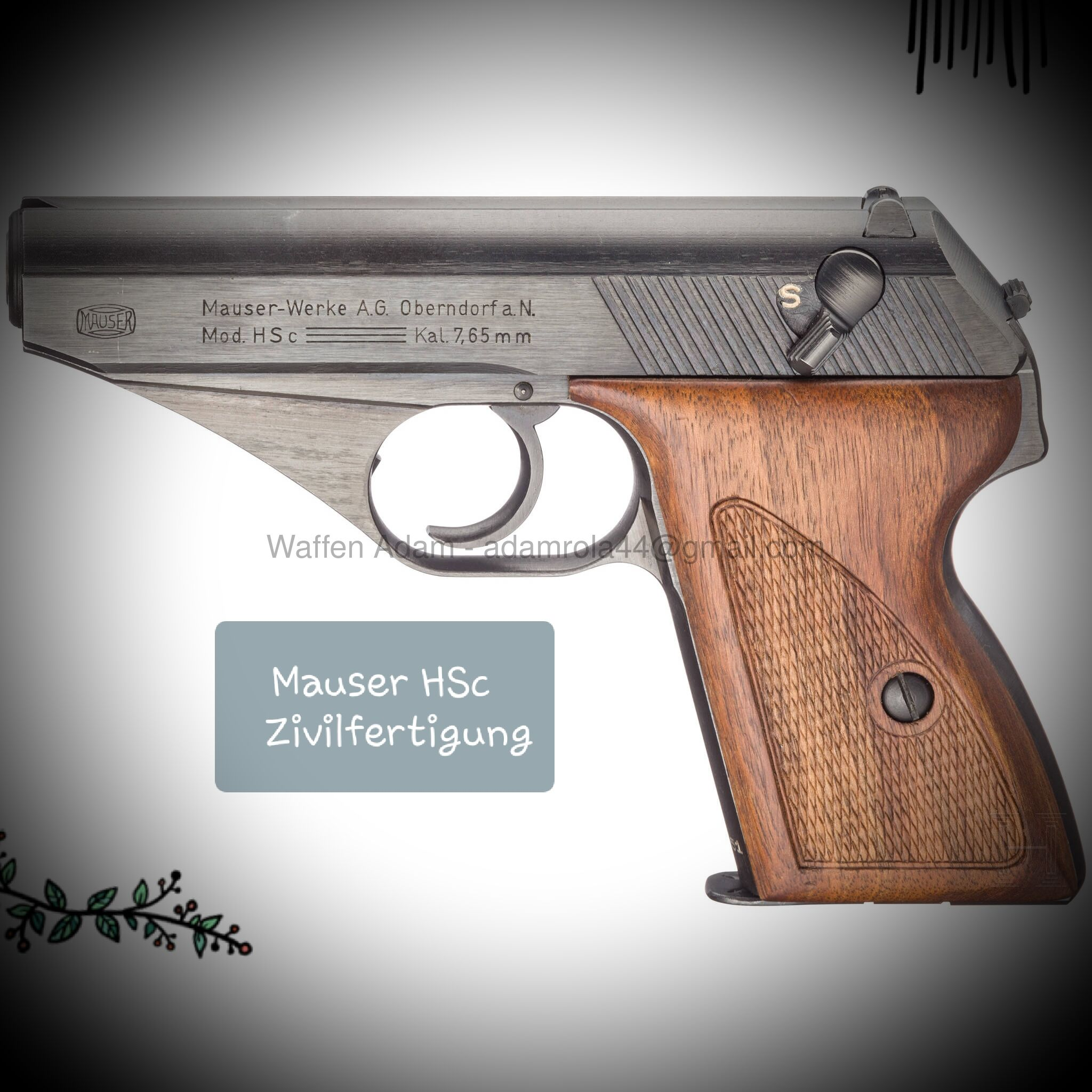 Mauser HSc late war, commercial