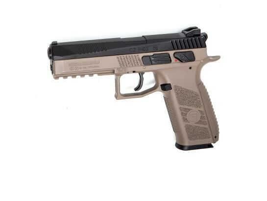KJ Works KJW CZ P-09 incl. Case Tan Airsoft Gas GBB Pistole ab18