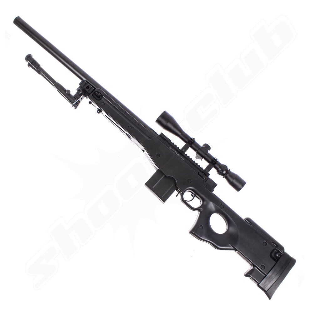 Well TGG Well MB4402 AWP Upgraded 6mm Airsoft SSG Set ab 18 BLK