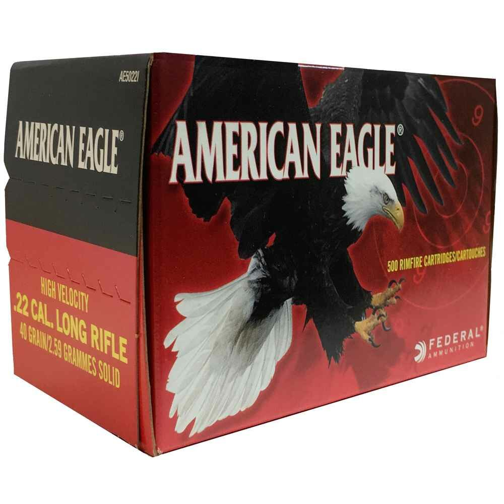 .22 lfb. American Eagle HV Solid 40 grs (in 500er)