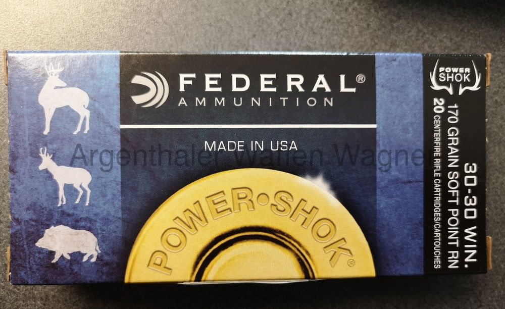 Federal Power Shok Soft P. 170gr  A20 .30-30 WIN