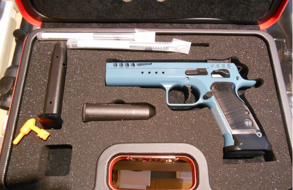 Tanfoglio Limited HC Custom, Teal Blue