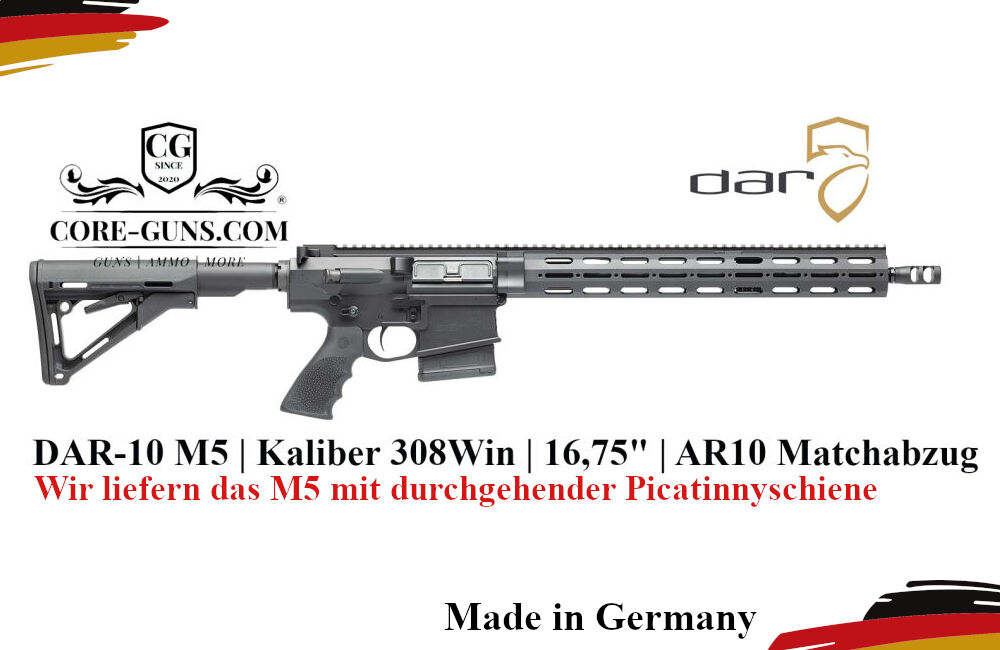 DAR-10 M5 - Kaliber 308Win - Dynamic Arms Research - DAR M5 DAR-10 M5 - Kaliber 308Win - Dynamic Arms Research - Durchgehende Schiene