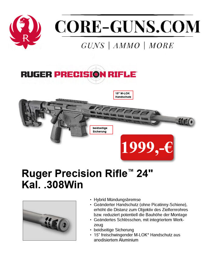 "Ruger Precision Rifle 24"" 308Win Long Range Repetierbüchse - inkl. Versand Ruger Precision Rifle 24"" 308Win Long Range Repetierbüchse - inkl. Versand"