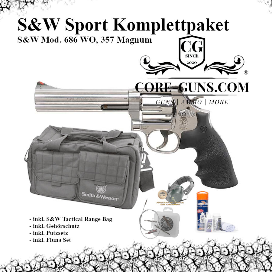 S & W Mod. 686 WO, .357 Magnum - Set - Revolver - Smith & Wesson S & W Mod. 686 WO, .357 Magnum - Set - Revolver - Smith & Wesson