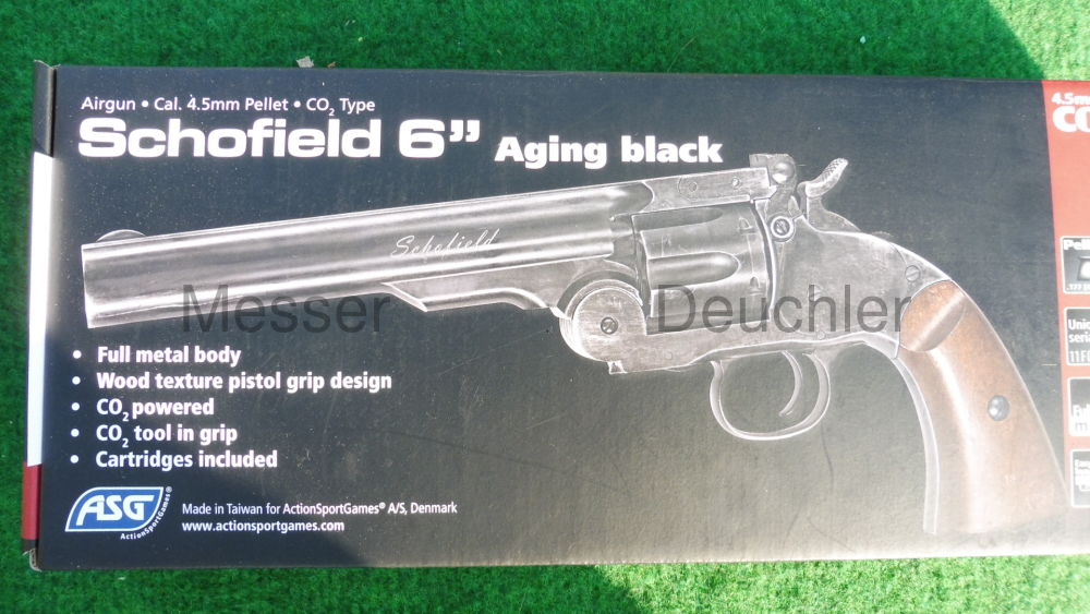 GSG German Sports Guns Schofield 6' Revolver Aging black