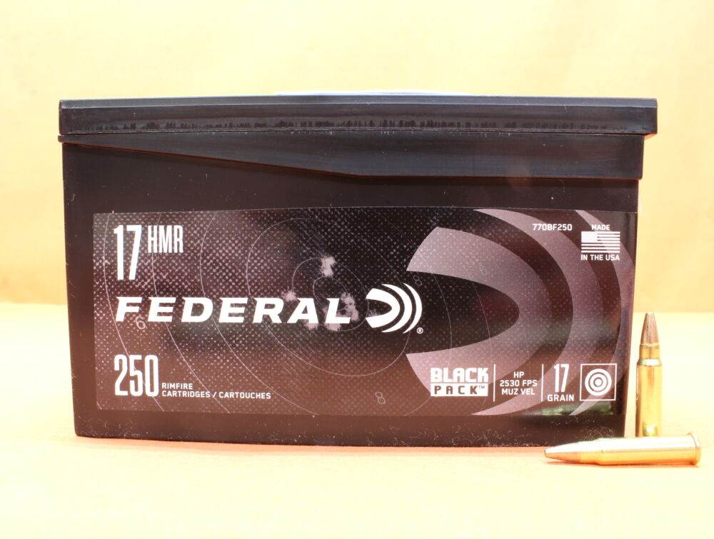 Federal Patrone .17HMR Federal 17grs JHP (770BF250) VE 250 Patronen [#ARS] 1,10g Teilmantel-Hohlspitz