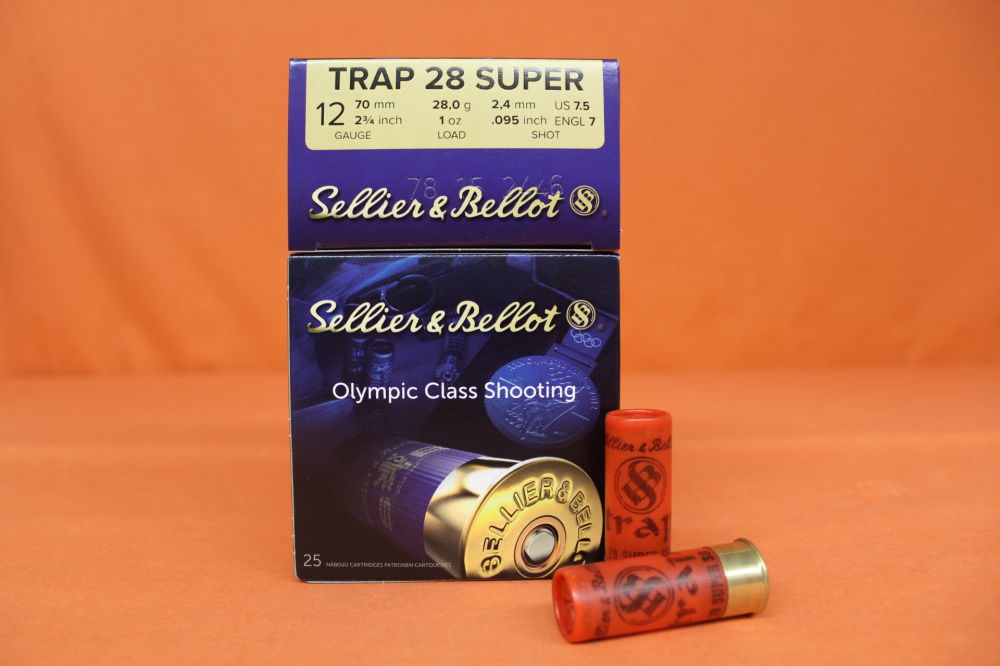 S&B/ Sellier&Bellot Patrone 12/70 S&B/ Sellier&Bellot 28g 2,4mm/ No.7,5  VE 25 Patronen (Super Trap 28)