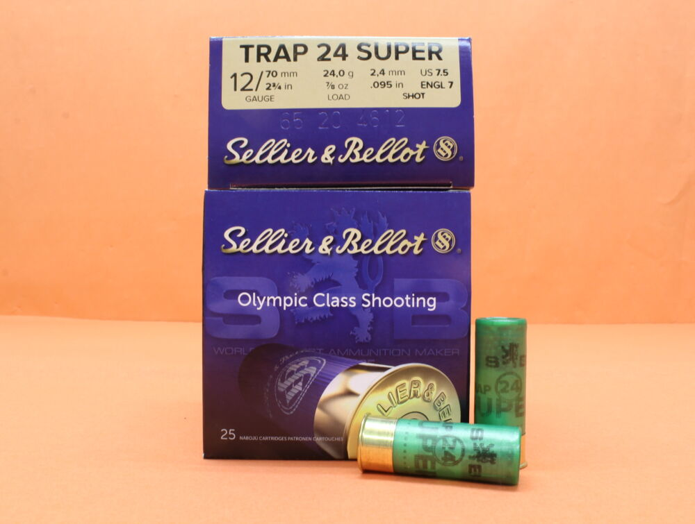 S&B Sellier & Bellot Patrone 12/70 S&B/ Sellier&Bellot 24g 2,4mm/ No.7,5  VE 25 Patronen (Super Trap 24)