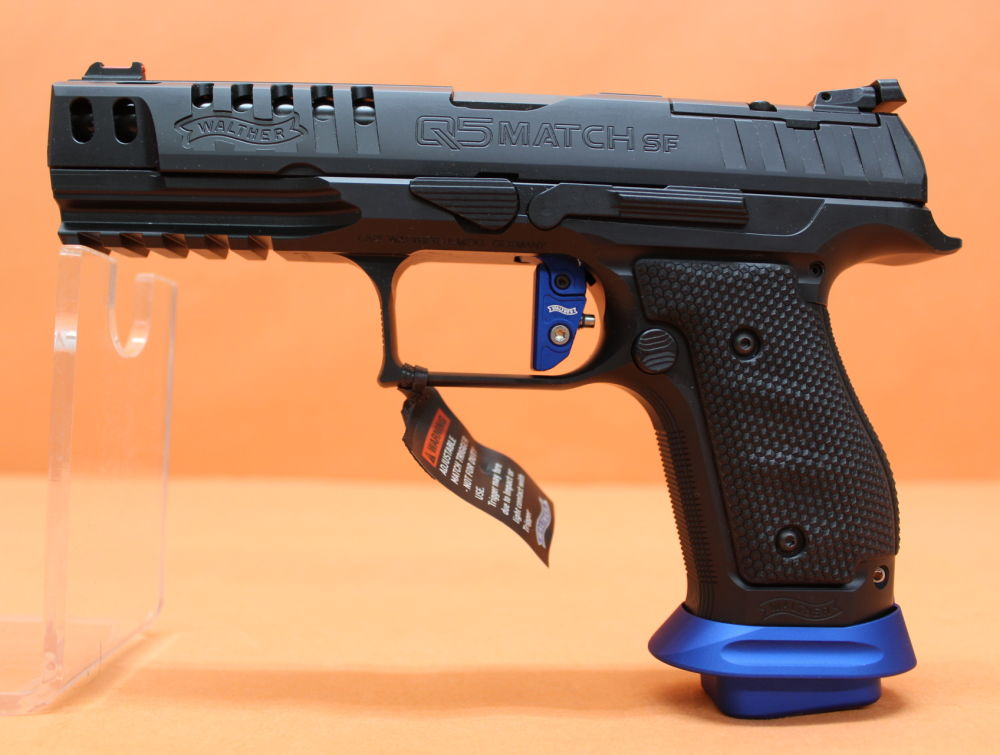 "Walther Ha.Pistole 9mmLuger Walther Q5 MATCH SF Steel Frame Expert 5"" Lauf/ Schnittstelle f. Red Dot Sight"