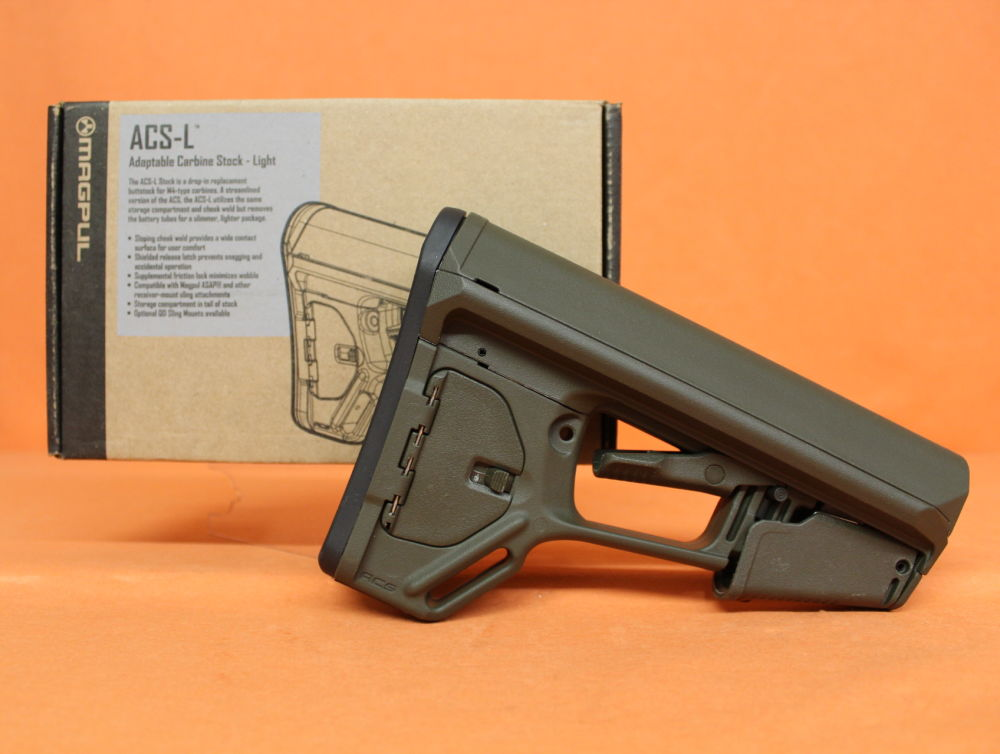 Magpul AR-15: Buttstock Magpul ACS-L (MAG378-ODG) MILSPEC Carbine Stock Polymer OliveDrab Green/Schubschaft