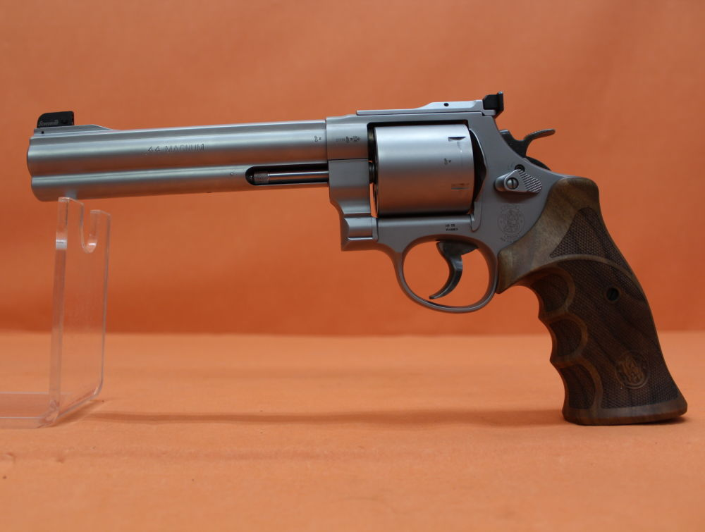 "Smith&Wesson/ S&W Revolver .44RemMagnum Smith&Wesson/ S&W629-6 Classic Champion Match Master Stainless matt 6,5"" Lauf"