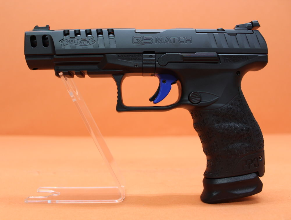 "Walther Ha.Pistole 9mmLuger Walther PPQ Q5 MATCH Champion 5"" Lauf/ Schnittstelle f. Red Dot Sight (9mmPara)"