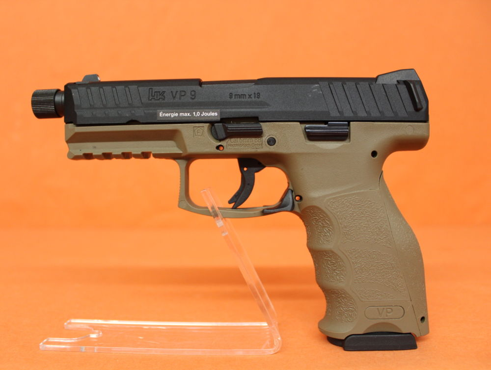 Umarex/VFC Airsoft GBB 6mm(Bullet) Heckler&Koch® HK VP9 Tactical (FDE) Gas-Blow-Back UMAREX Metall/Polymer SFP9