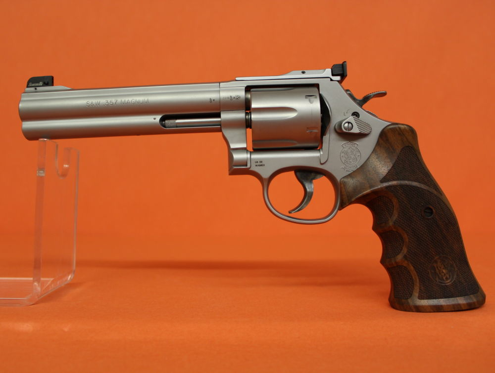 "Smith & Wesson Revolver .357Magnum Smith&Wesson/ S&W686-6 Target Champion Match Master Stainless Matt 6"" Lauf"