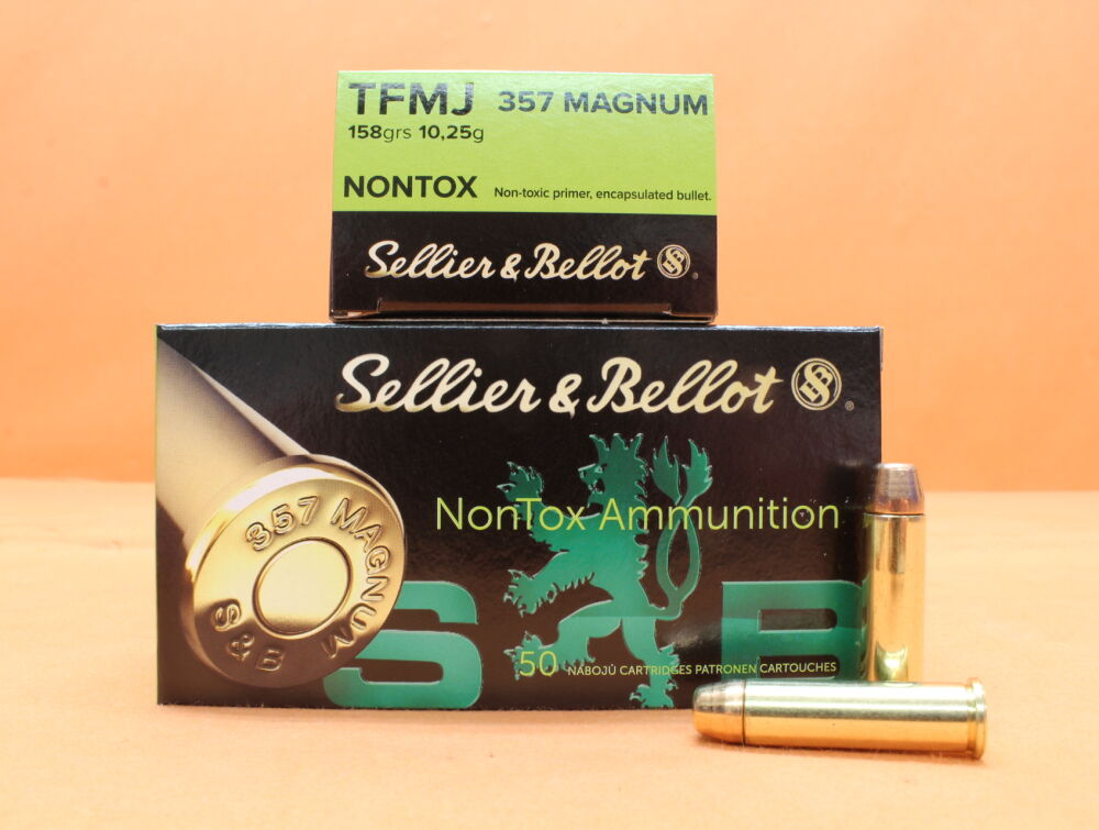 Sellier & Bellot/S&B Patrone .357Magnum S&B/ Sellier&Bellot 158grs TFMJ NONTOX VE 50 Patronen/ 10,24g Vollmantel