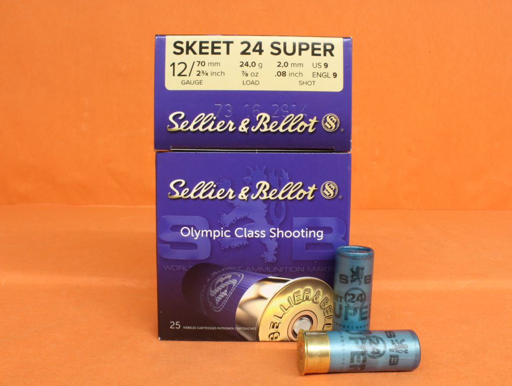 S&B - Sellier & Bellot Patrone 12/70 S&B/ Sellier&Bellot 24g 2,0mm/ No.9  VE 25 Patronen (Super Skeet 24)