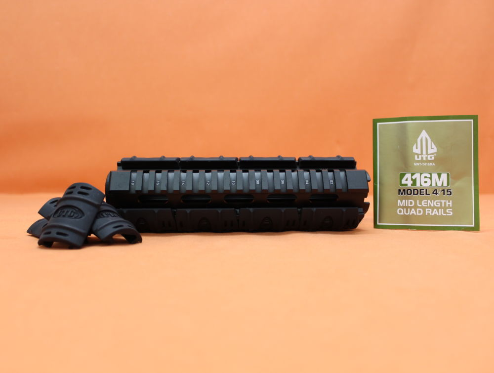 Leapers - UTG AR-15: Handguard/ 4-Rail-System UTG (MNT-T416MA) Drop In Mid Length Alu Handschutz incl. Cover