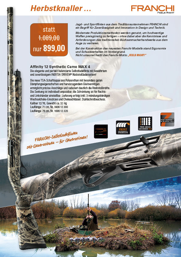Franchi Affinity 12 Synthetic Camo MAX 4