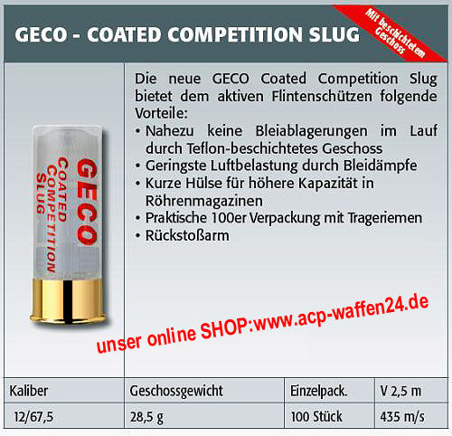 Geco Coated Competetion Slug