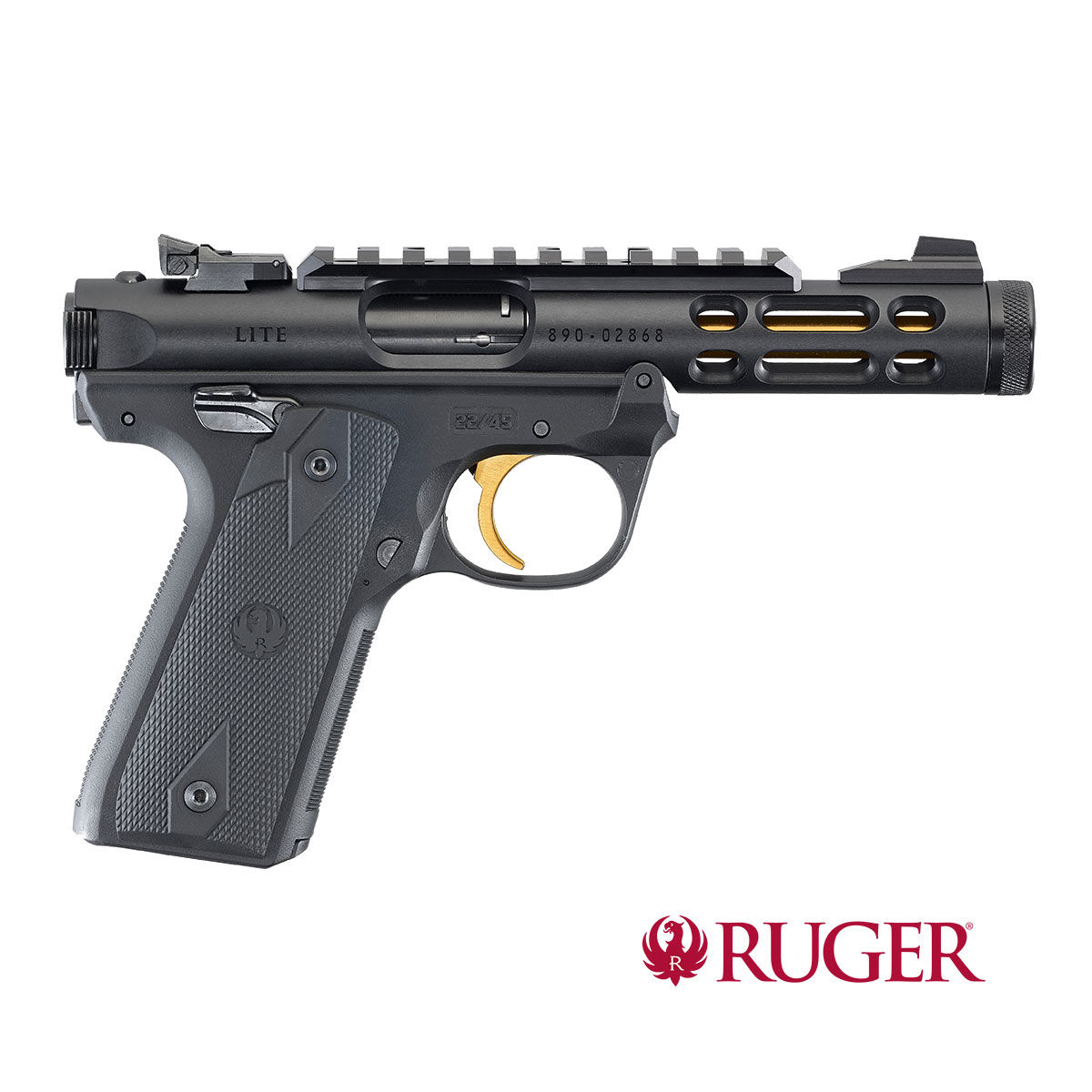 "Ruger Mark IV 22/45 Lite Black 4,4"" .22lr"