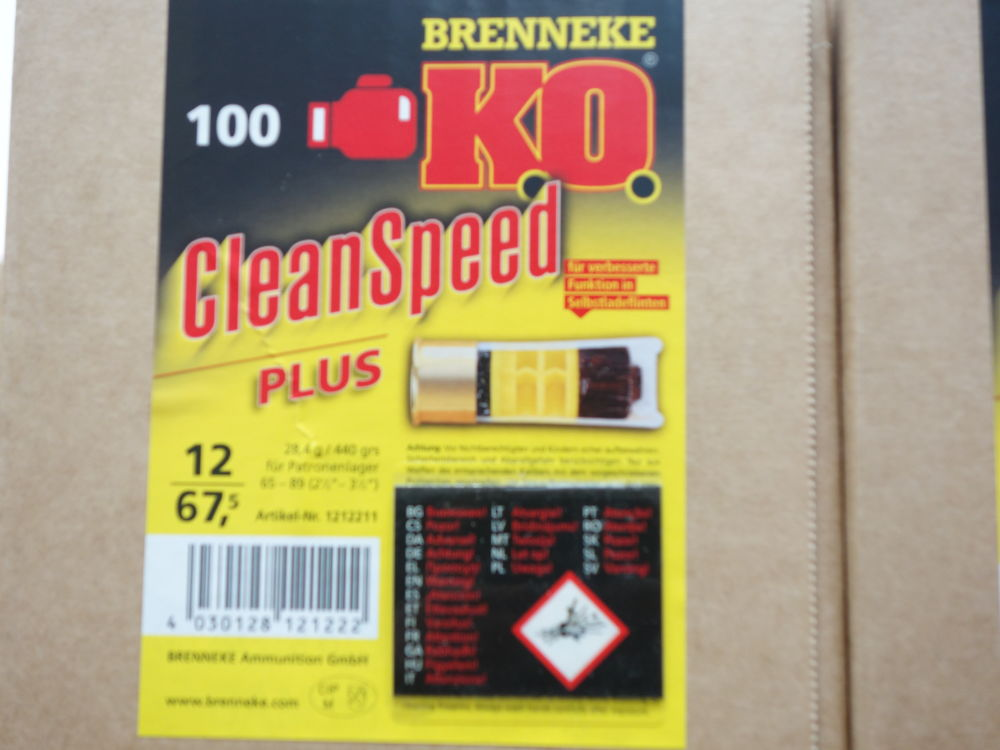 Brenneke K.O.Clean Speed Plus 100 Schuß