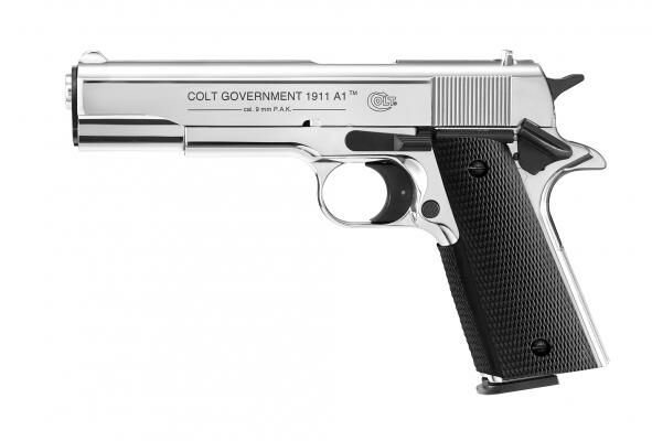 Umarex Colt Government 1911 A1 cal. 9 mm P.A.K. - polished chrome