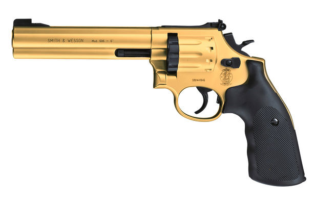 "Umarex Smith & Wesson Mod. 686-6"" cal. 4,5 mm (.177) Diabolo - Gold Finish"