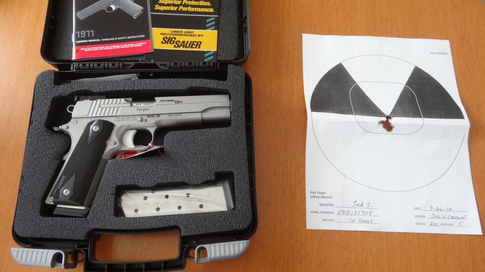 Sig Sauer 1911 PISTOLE SIG-SAUER 1911 STAINLESS TARGET-CAL. 45 ACP