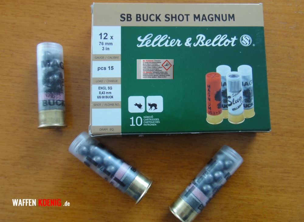 Sellier & Bellot Sellier & Bellot, Buck Shot 12/76, Schrotgröße 8,4 mm