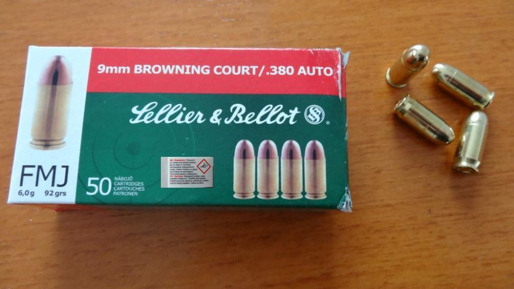 Sellier & Bellot 50 Patronen Sellier & Bellot Cal. 9mm kurz ( .380 Auto)