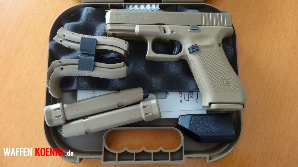 Glock SL-Pistole: Glock 19X-Cal. 9x19 mm in Coyote Tan