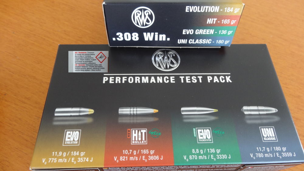RWS: RWS Performance Test Pack Cal. 308 Win.