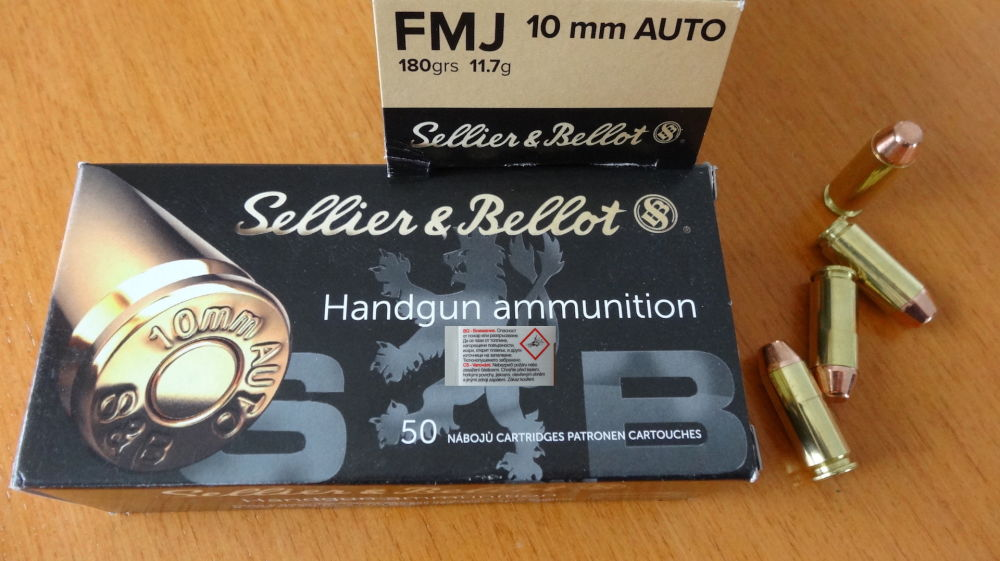 Sellier & Bellot 50 Patronen:Sellier & Bellot, Cal. 10mm Auto FMJ