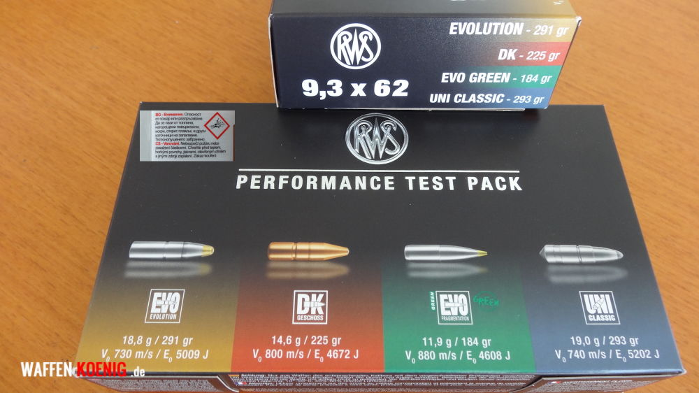 RWS: RWS Performance Test Pack Cal. 9,3x62