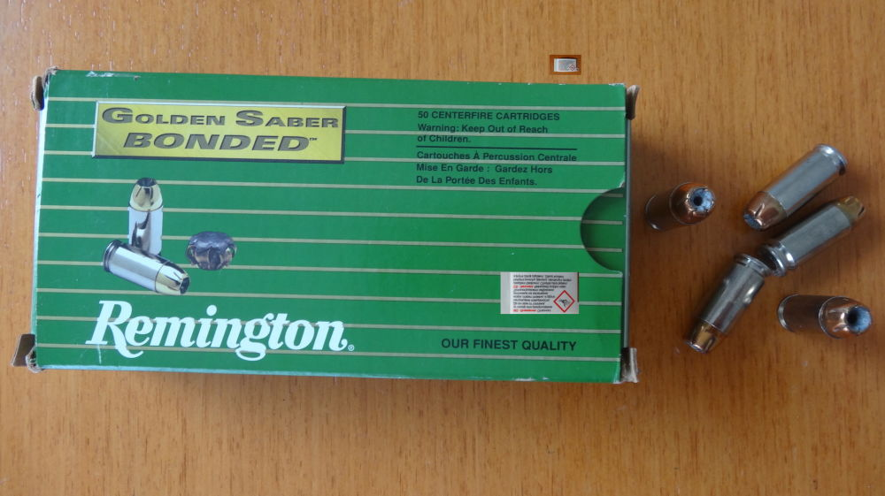 Remington 50 PATRONEN CAL. 40 S+W REMINGTON GOLDEN SABER BONDED HPJ 10,69 G - 165 GRS