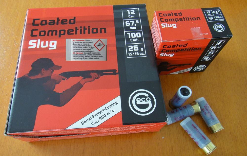 GECO 100 Stück Flintenlaufgeschosse(Slugs) Geco 12/67,5 Coated Competition