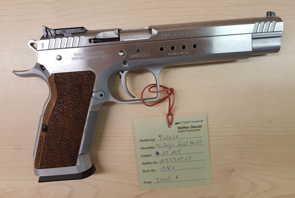 Tanfoglio Gold Match inkl. WS 9mm Luger
