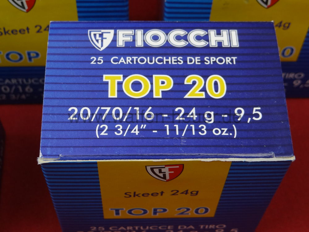 Fiocchi 24,00g - 370grs / Top 20 Skeet /